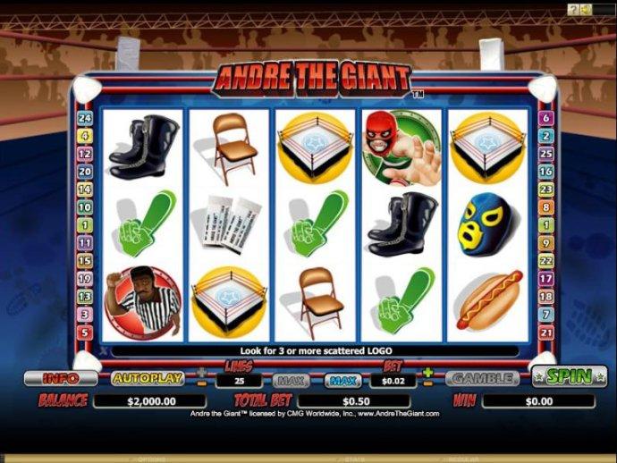 Slot screen by No Deposit Casino Guide
