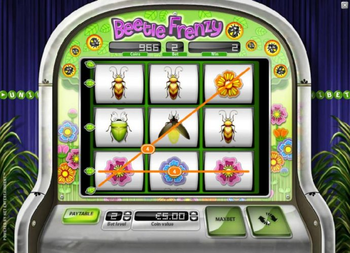 two paylines trigger an 8 coin jackpot by No Deposit Casino Guide