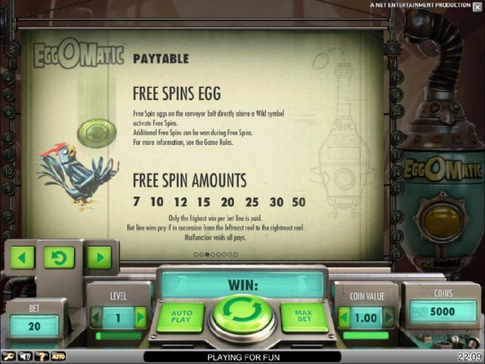 No Deposit Casino Guide image of EggOMatic