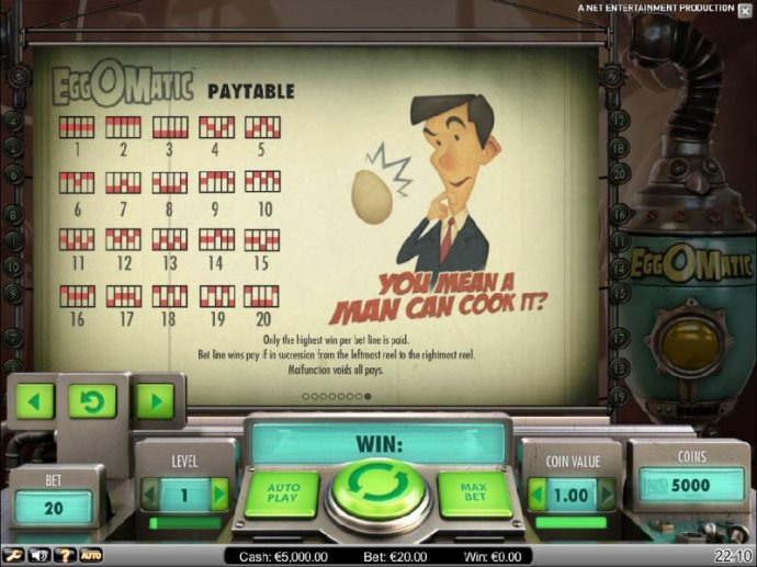 EggOMatic by No Deposit Casino Guide