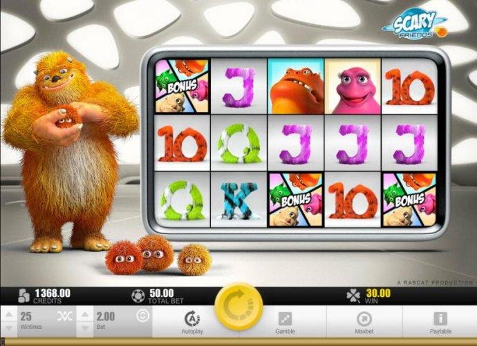 Three bonus symbols triggers bonus feature - No Deposit Casino Guide