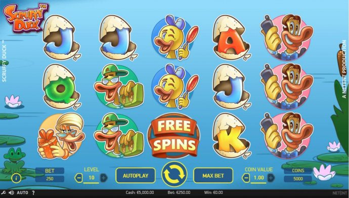 No Deposit Casino Guide image of Scruffy Duck