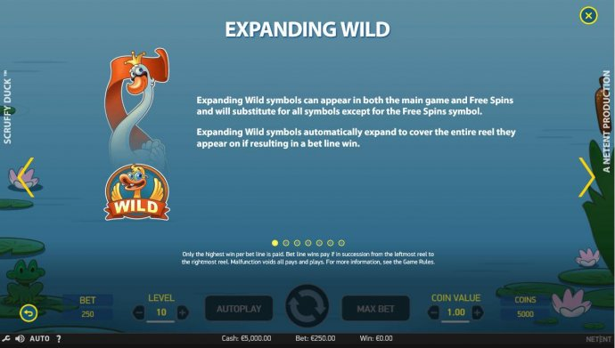 Expanding wild symbols can appear in both the main game and free spins and will substitute for all symbols except for the Free Spins symbol. by No Deposit Casino Guide