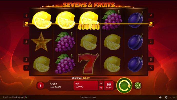 Sevens & Fruits by No Deposit Casino Guide