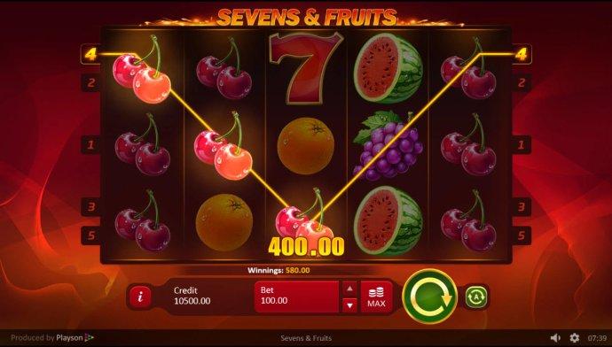 Images of Sevens & Fruits