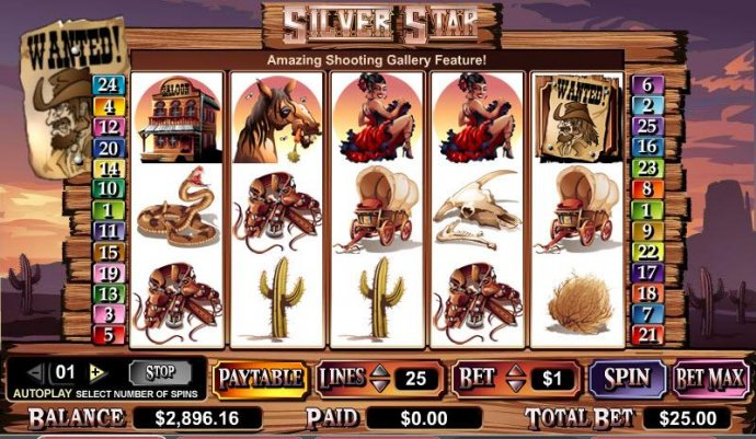 No Deposit Casino Guide image of Silver Star