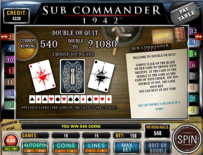 No Deposit Casino Guide image of Sub Commander 1942