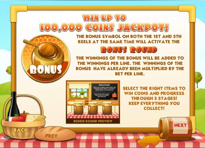 No Deposit Casino Guide - Win up to 100,000 coins jackpot! The bonus symbol on both the 1st and 5th reels at the same time will activate the Bonus Round.