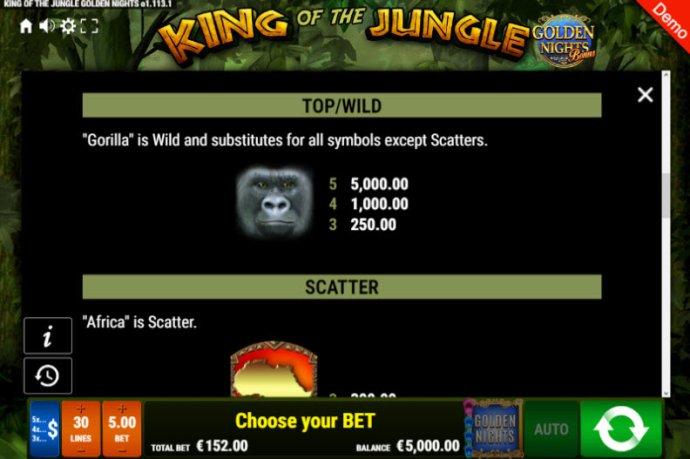 Images of King of the Jungle Golden Nights Bonus