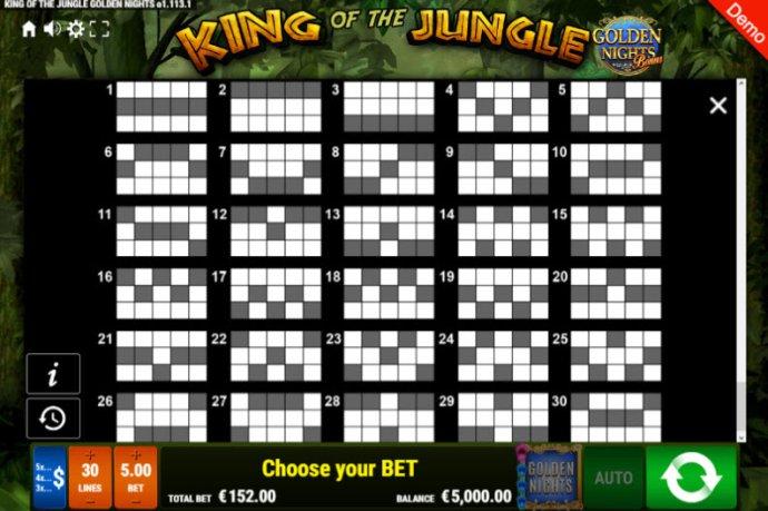 King of the Jungle Golden Nights Bonus by No Deposit Casino Guide