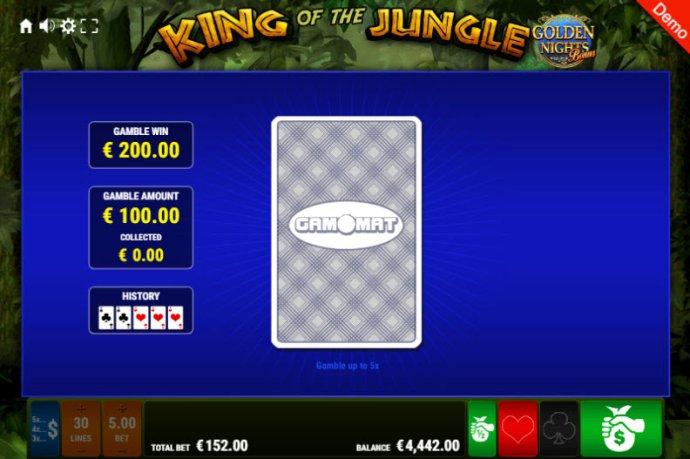 King of the Jungle Golden Nights Bonus screenshot