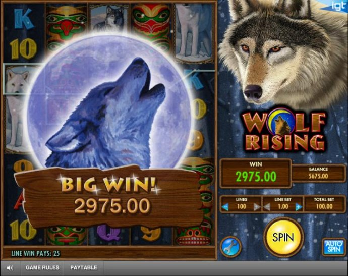 a pair of stacked wilds triggers multiple five of a kind leading to a $2975 big win by No Deposit Casino Guide