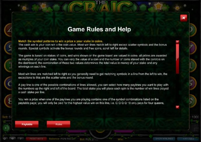 No Deposit Casino Guide - Game Rules and Help - Part 1