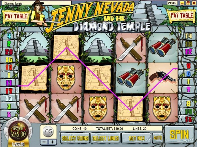 No Deposit Casino Guide image of Jenny Nevada and the Diamond Temple