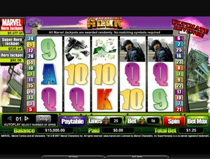 The Incredible Hulk by No Deposit Casino Guide