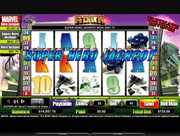 No Deposit Casino Guide image of The Incredible Hulk