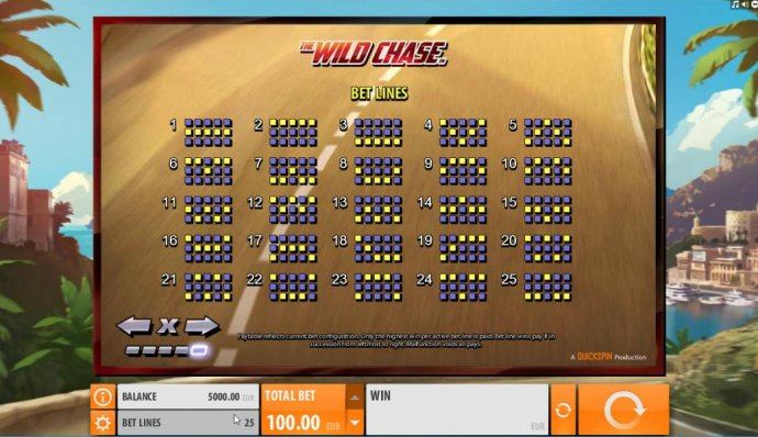 Payline Diagrams 1-25. - No Deposit Casino Guide