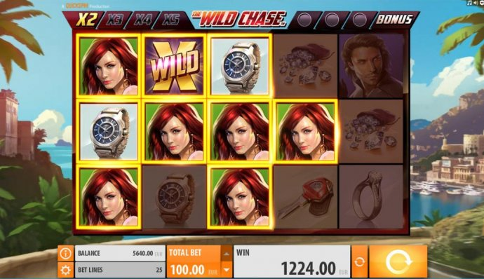 No Deposit Casino Guide - Multiple winning paylines triggers a 1224.00 big win!