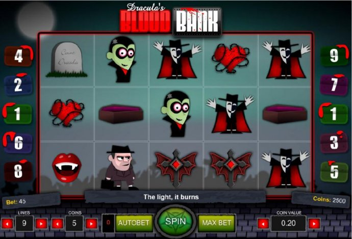 Dracula's Blood Bank by No Deposit Casino Guide