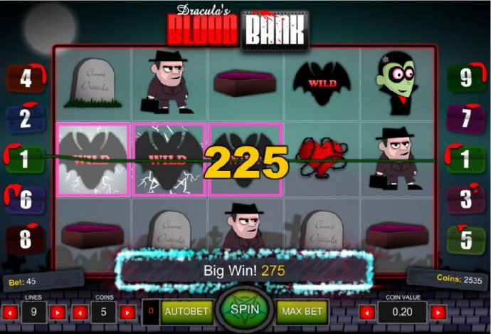 Big Win!  A 275 coin payout. by No Deposit Casino Guide