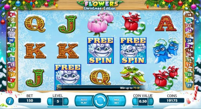 Flowers Christmas Edition by No Deposit Casino Guide