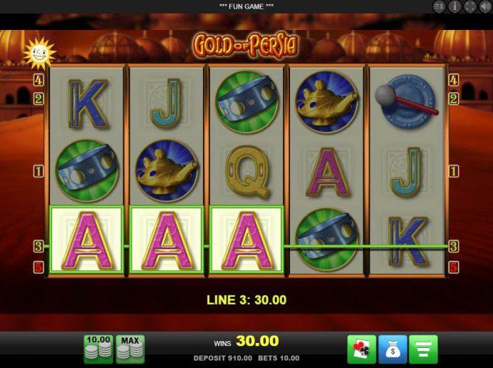 Gold of Persia by No Deposit Casino Guide