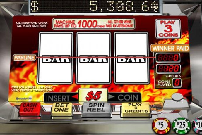 No Deposit Casino Guide image of Triple 7s Inferno