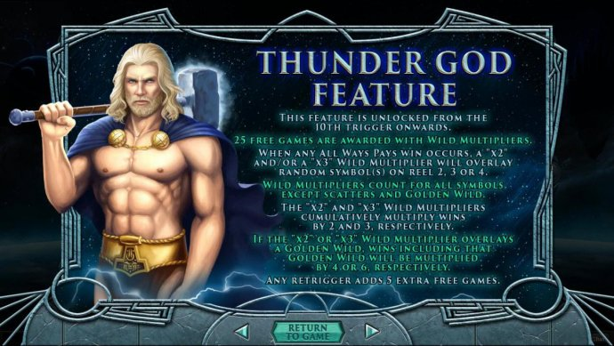 Thunder God Feature Rules - No Deposit Casino Guide