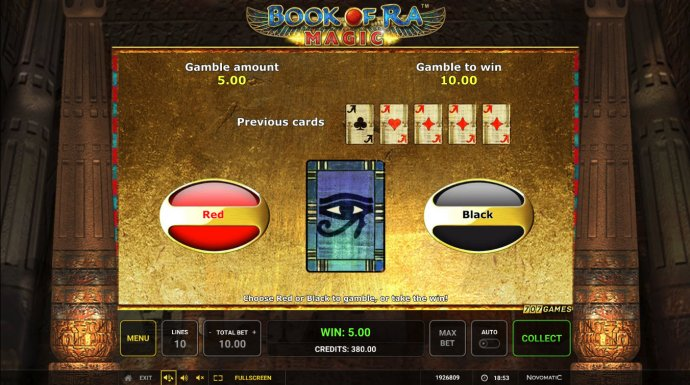 Red or Black Gamble feature by No Deposit Casino Guide