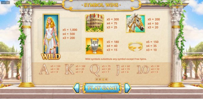 Slot game symbols paytable - The wild symbol is the highest paying symbol on the reels and is represented by the Emporess or Emporer depending on which game mode was selected to play. - No Deposit Casino Guide