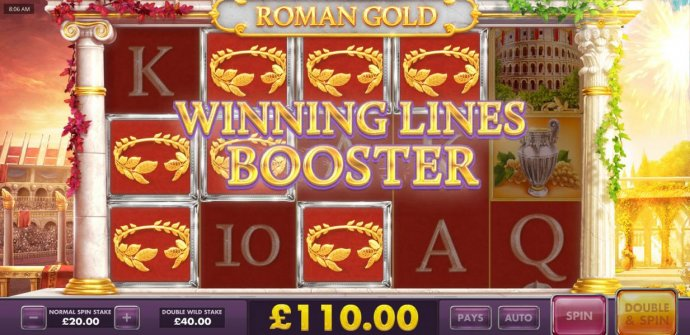 Winning Lines Booster triggered - Winning lines symbols will be nudge for a chance at increasing your winnings. by No Deposit Casino Guide