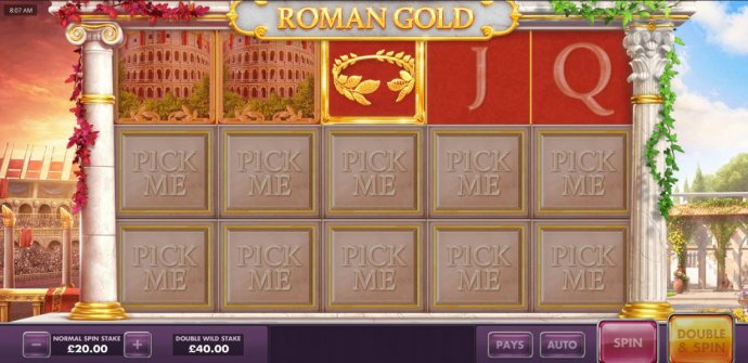 The first choice reveals a gold leaf crown. - No Deposit Casino Guide
