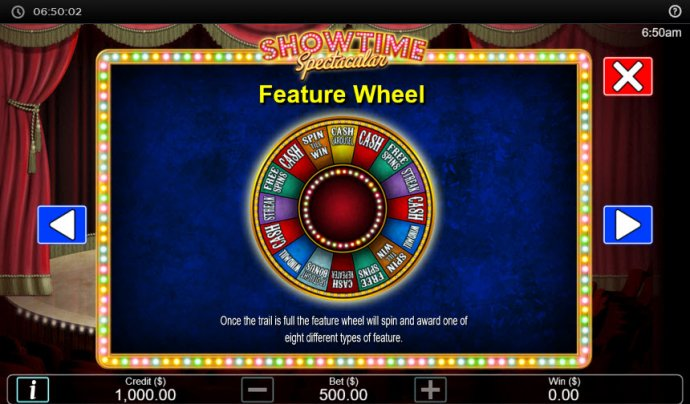 Feature Wheel by No Deposit Casino Guide