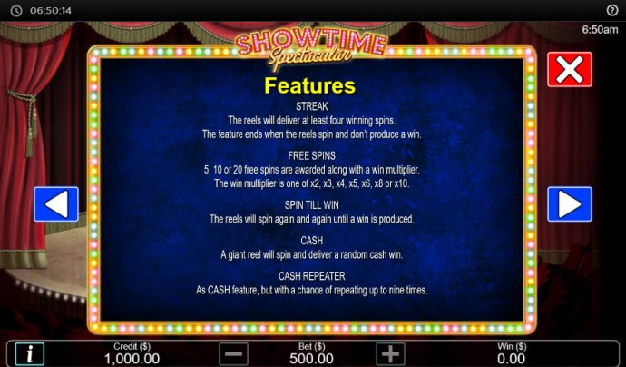 No Deposit Casino Guide image of Showtime Spectacular