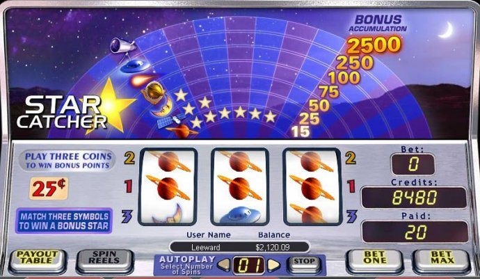 No Deposit Casino Guide image of Star Catcher