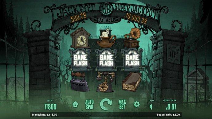 Landing three Game Flash symbols triggers bonus feature. - No Deposit Casino Guide