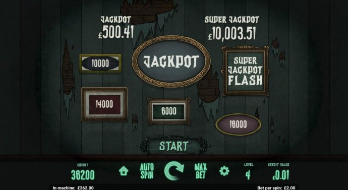 No Deposit Casino Guide - Jackpot Flash Game Board - Click start for a chance to win the jackpot or enter the Super Jackpot Flash game.