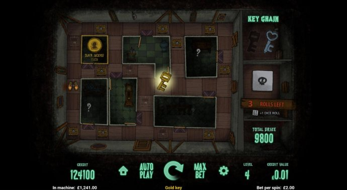 A Super Jackpot gold key is revealed. by No Deposit Casino Guide