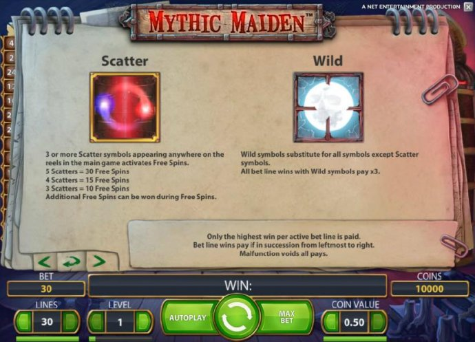 Mythic Maiden by No Deposit Casino Guide