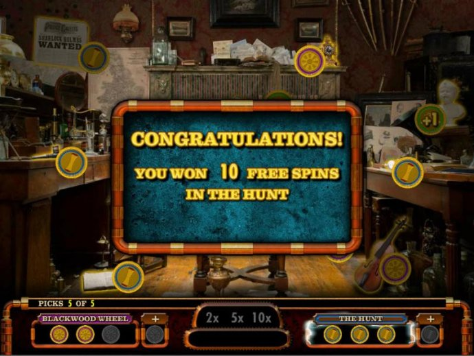 No Deposit Casino Guide - After making the 5 picks, 10 free spins awarded.