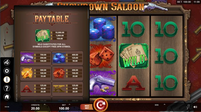 No Deposit Casino Guide image of Showdown Saloon