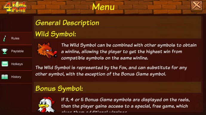 No Deposit Casino Guide image of 4 Fowl Play