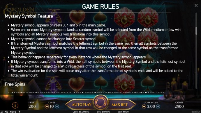 Golden Grimoire by No Deposit Casino Guide