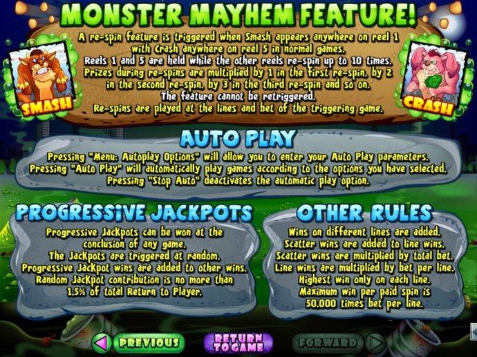 Monster Mayhem by No Deposit Casino Guide