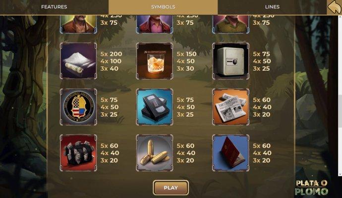 No Deposit Casino Guide - Low Value Symbols Paytable