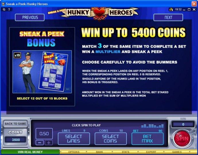 No Deposit Casino Guide image of Sneak a Peek-Hunky Heroes