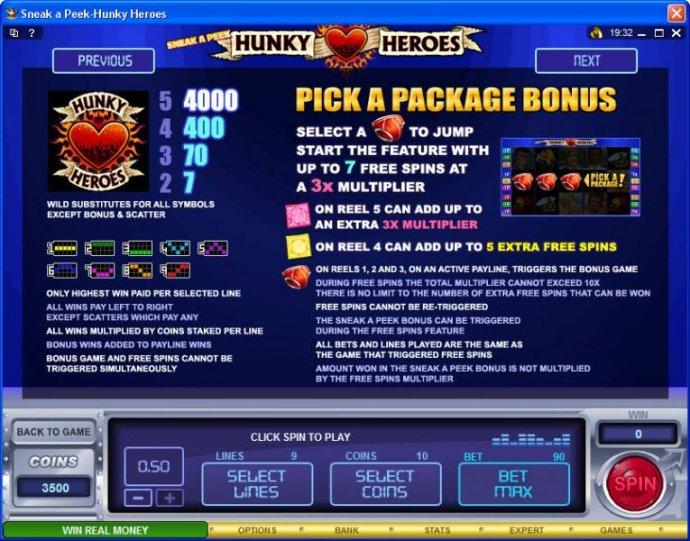Sneak a Peek-Hunky Heroes by No Deposit Casino Guide