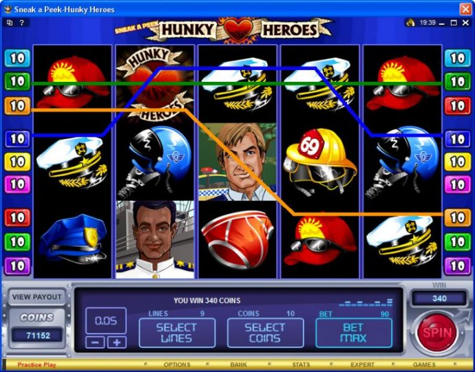 Sneak a Peek-Hunky Heroes screenshot