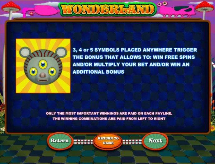 No Deposit Casino Guide image of Wonderland