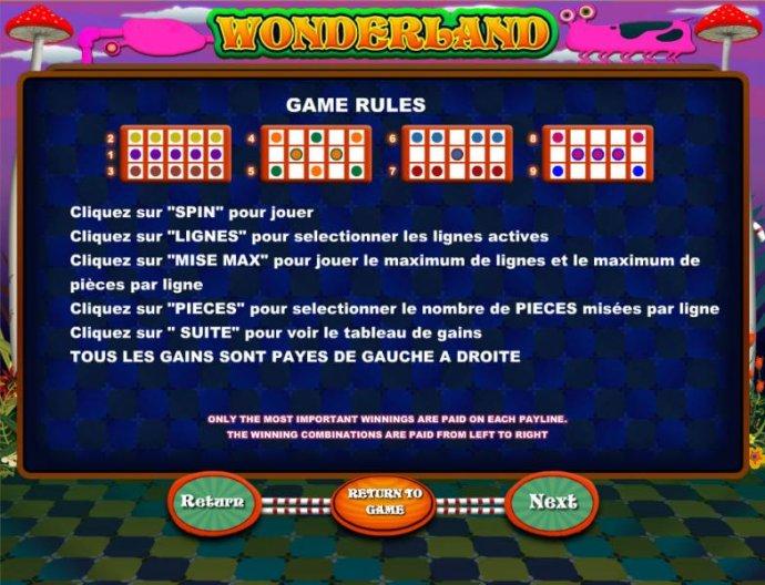Wonderland screenshot